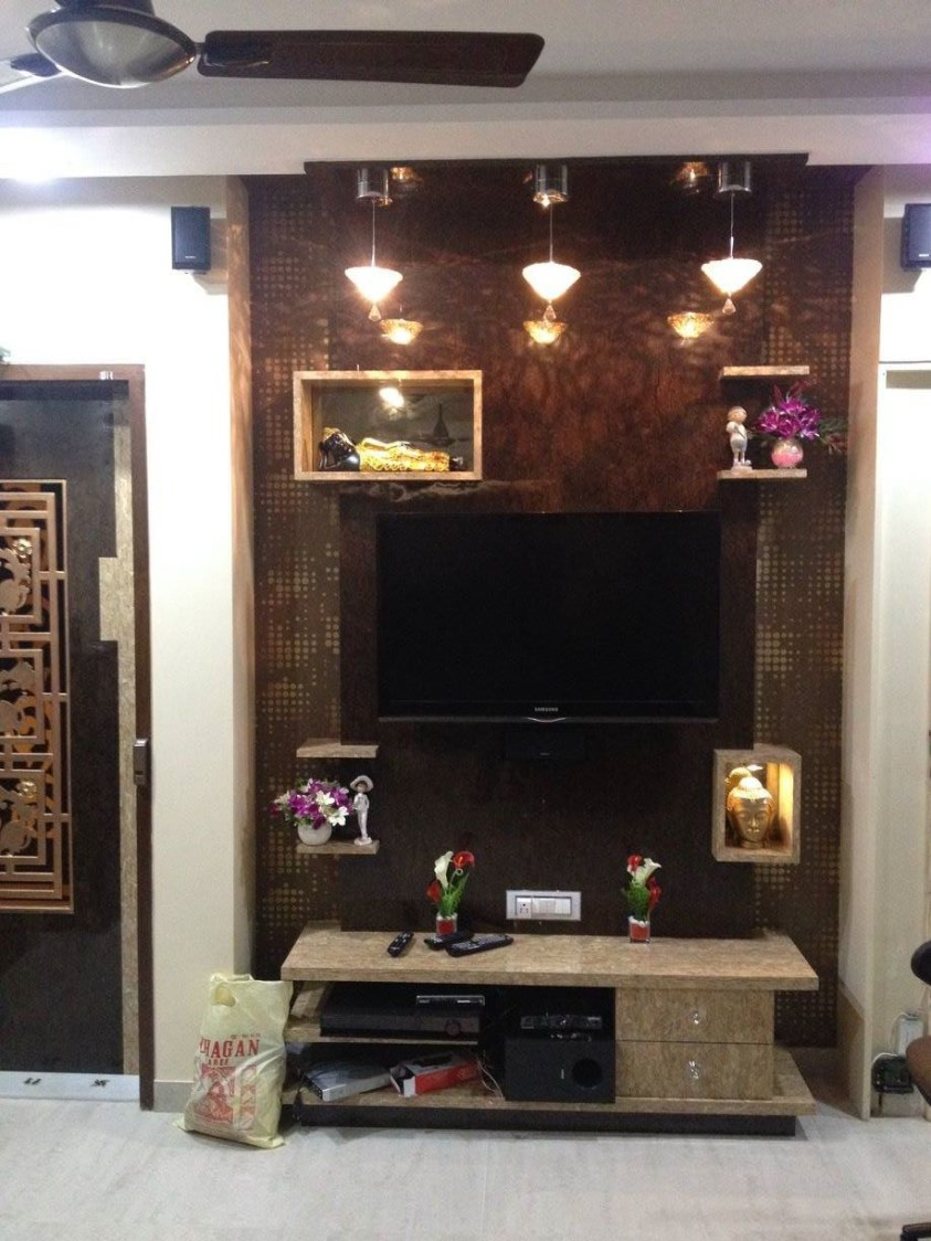 TV Cabinet by K D Mistry Interior Living-room | Interior Design Photos & Ideas
