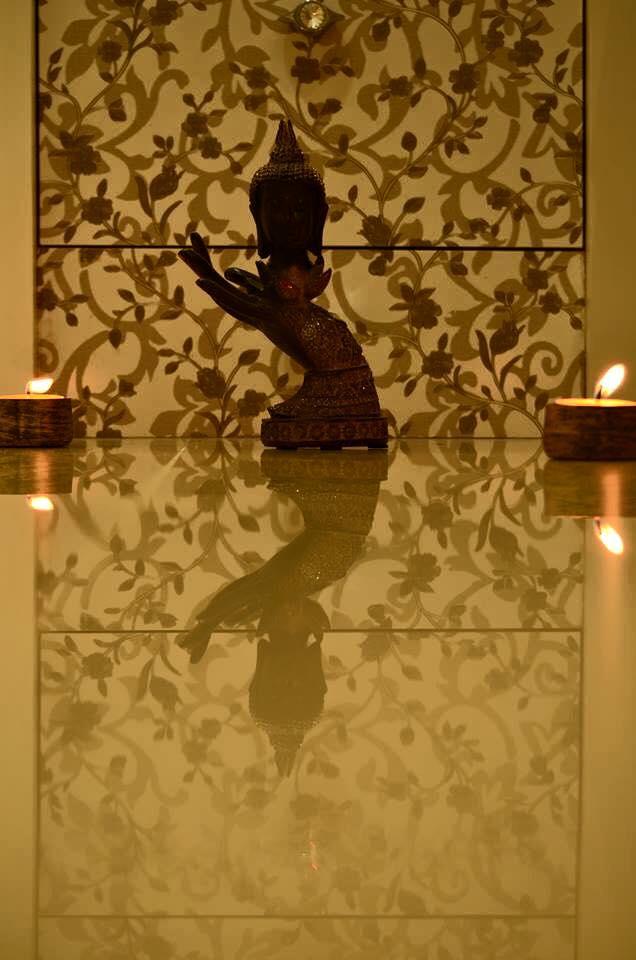Golden Display Unit by K D Mistry Interior Living-room Modern | Interior Design Photos & Ideas