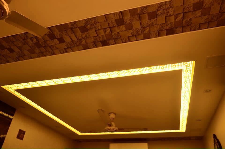 Vintage False Ceiling by K D Mistry Interior Living-room | Interior Design Photos & Ideas