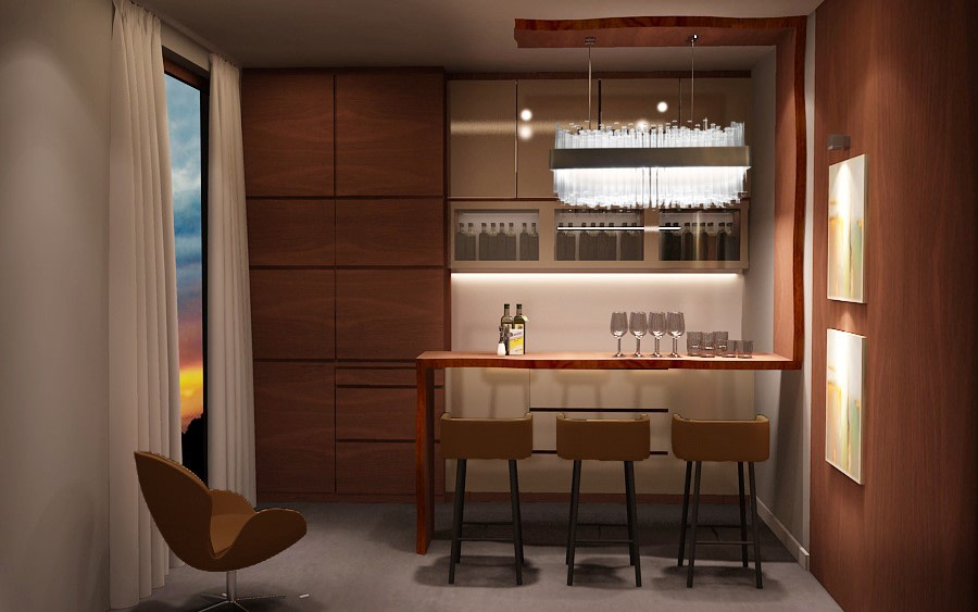 Home Bar by Stonehenge Designs Indoor-spaces Contemporary | Interior Design Photos & Ideas