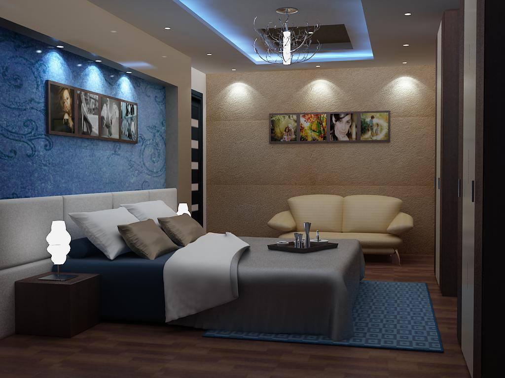 Blue Wall Art And Wooden Flooring In Bedroom by Delixi Designs Bedroom Modern   Interior Design Photos & Ideas