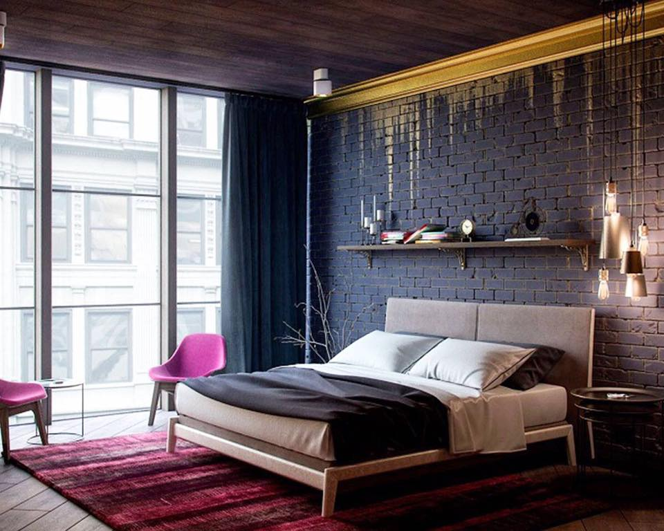 Bedroom with  wall design and false ceiling by Delixi Designs Bedroom Modern   Interior Design Photos & Ideas