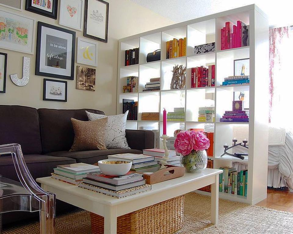 Black sofa and white book shelf by Delixi Designs Living-room Modern | Interior Design Photos & Ideas
