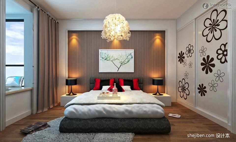 Artistic Hanging Lights And Wooden Flooring In Bedroom by Delixi Designs Bedroom Modern | Interior Design Photos & Ideas