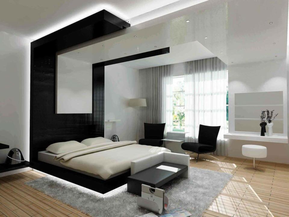 Wooden Flooring With Pale Shade Interiors In Bedroom by Delixi Designs Bedroom Modern | Interior Design Photos & Ideas