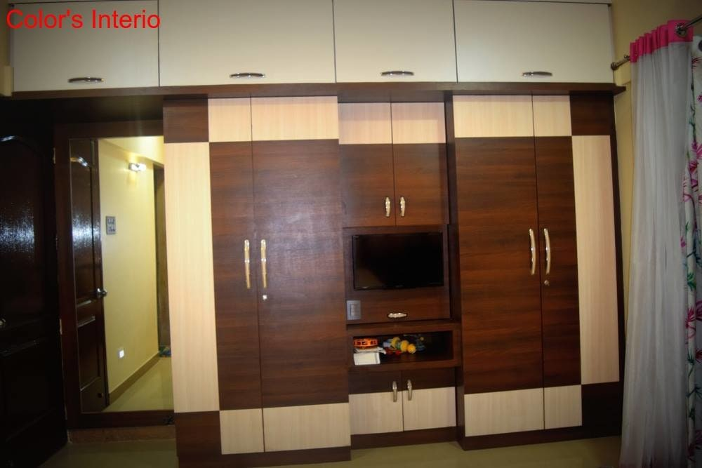 Walnut  And White Wood  Cupboard by color's interio Bedroom Contemporary   Interior Design Photos & Ideas