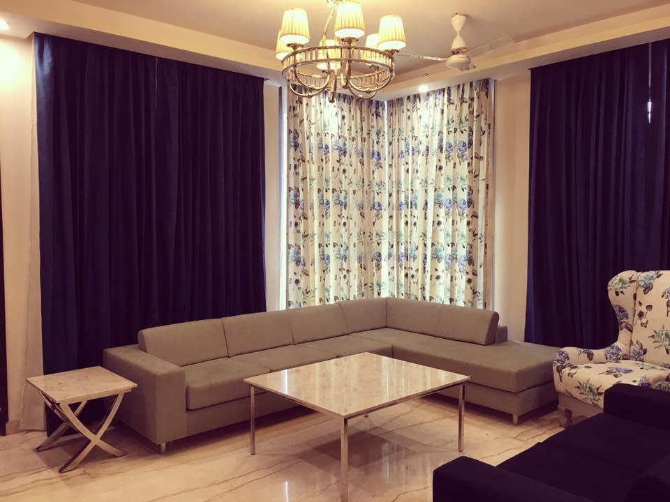 Blue Velvet by The Art Effect Living-room Contemporary | Interior Design Photos & Ideas