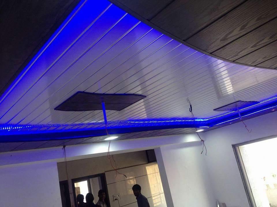 Modern false ceiling with fine detailing by shivanibhokare Living-room Modern   Interior Design Photos & Ideas
