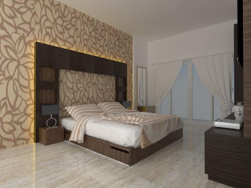 Contemporary bedroom design by Amol Vishwas Joshi Bedroom | Interior Design Photos & Ideas