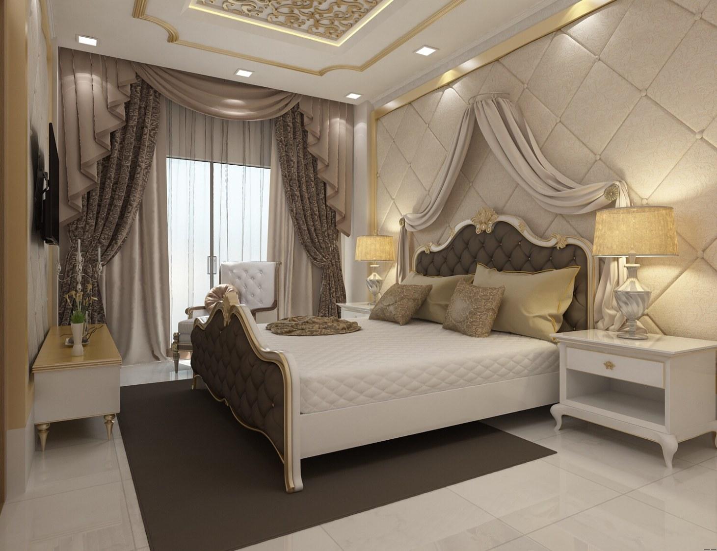 Golden Tints In Bedroom by setu.patel Bedroom | Interior Design Photos & Ideas