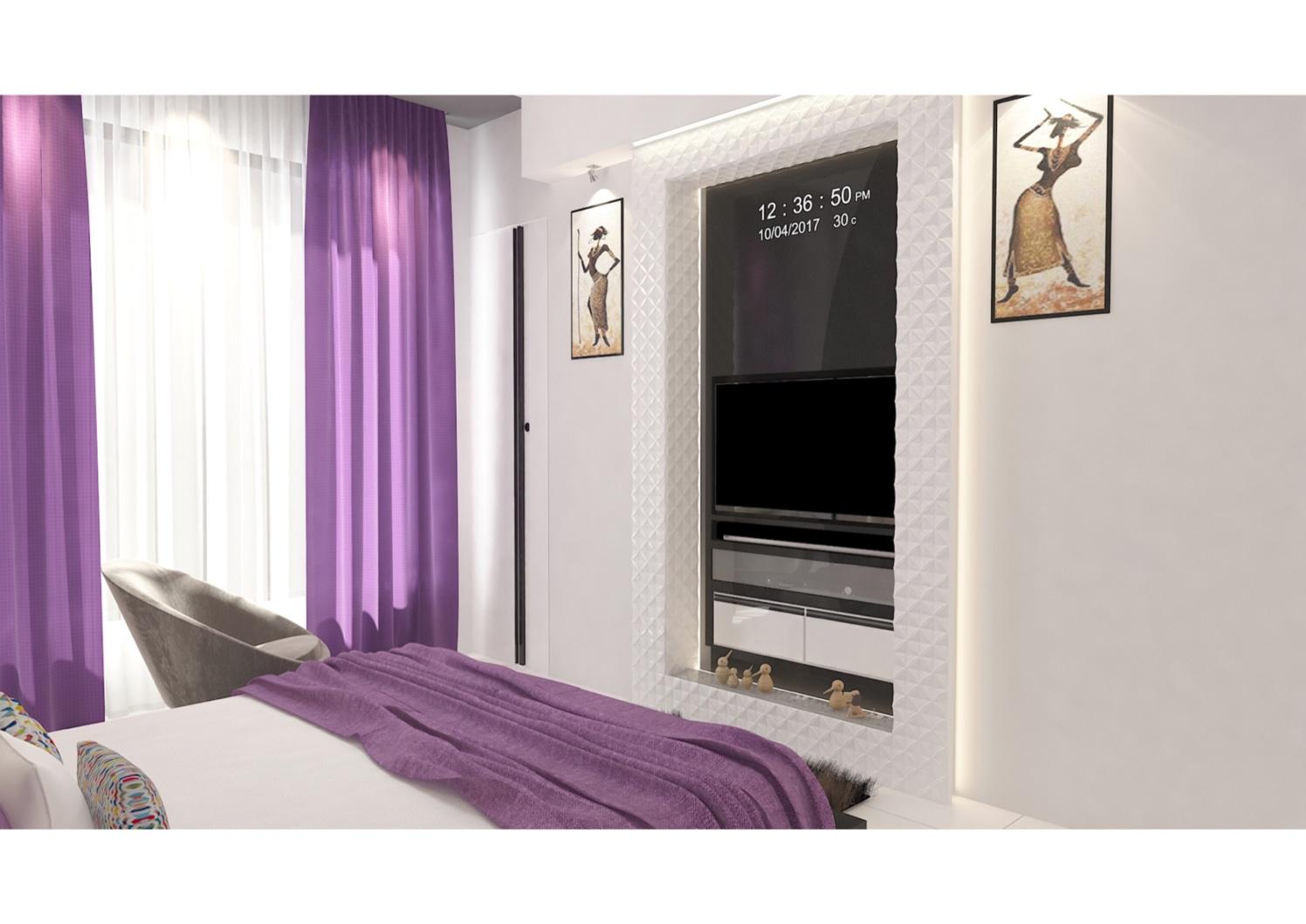 Contemporary bedroom by setu.patel