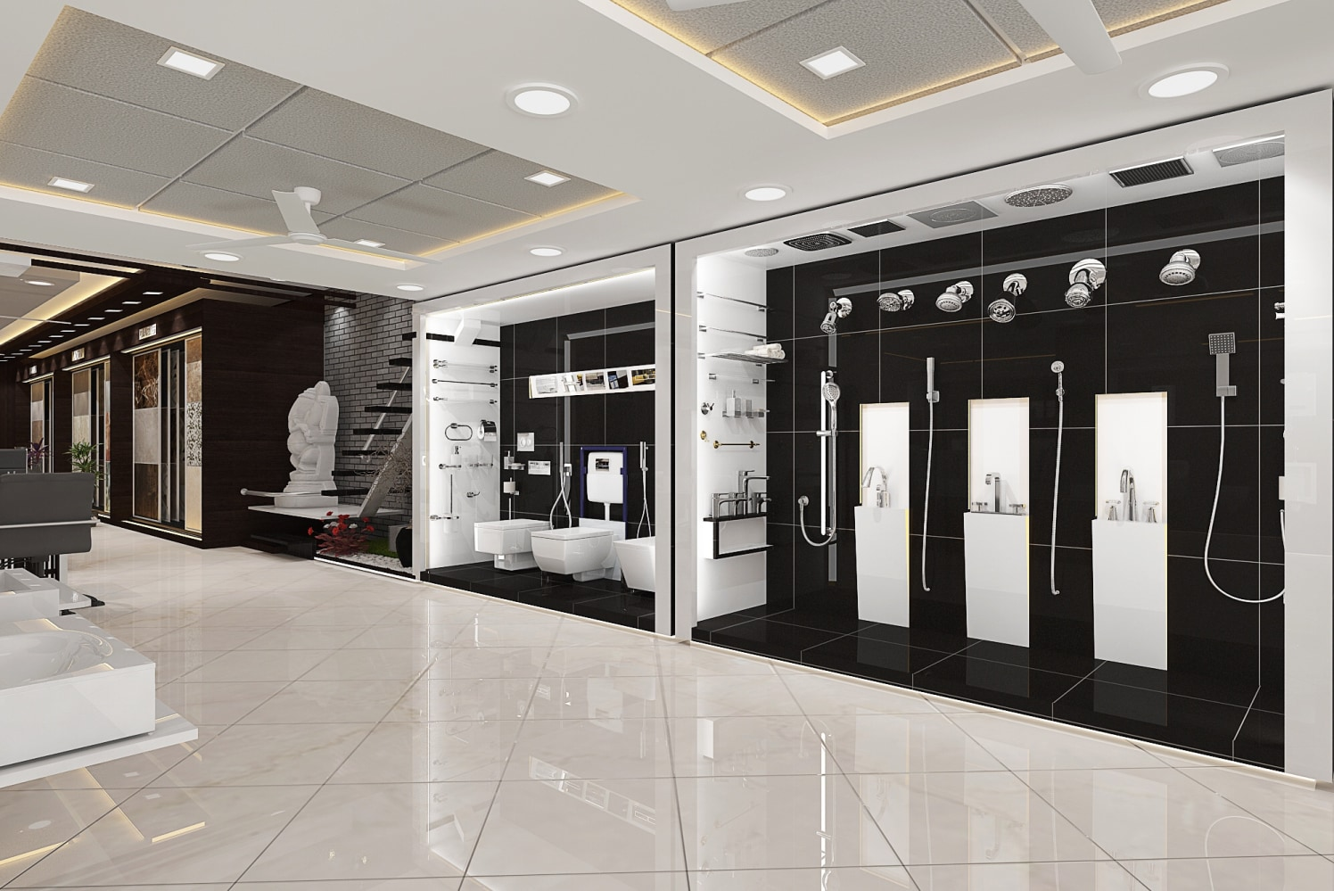 Modern Showroom Space by setu.patel