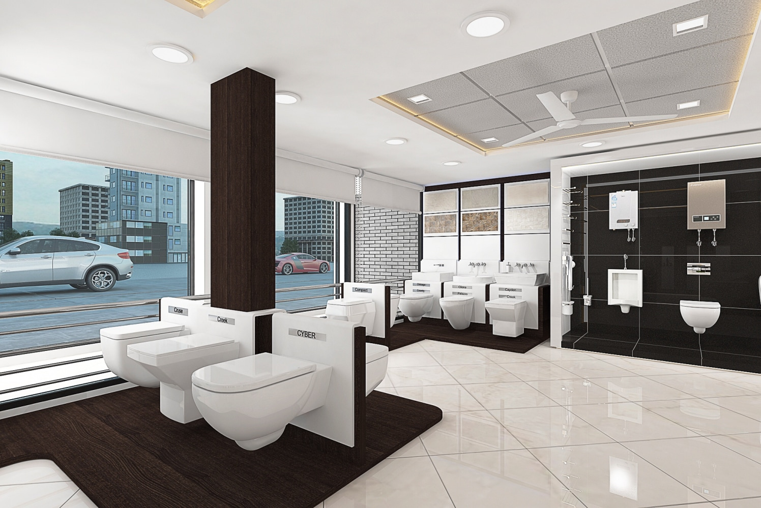Sanitary Showroom design by setu.patel | Interior Design Photos & Ideas