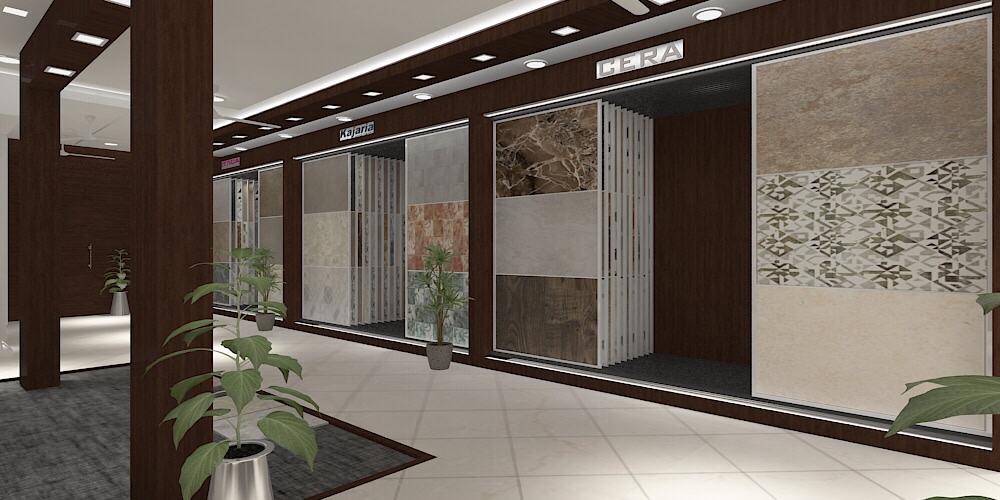 Black Hues Showroom design by setu.patel | Interior Design Photos & Ideas
