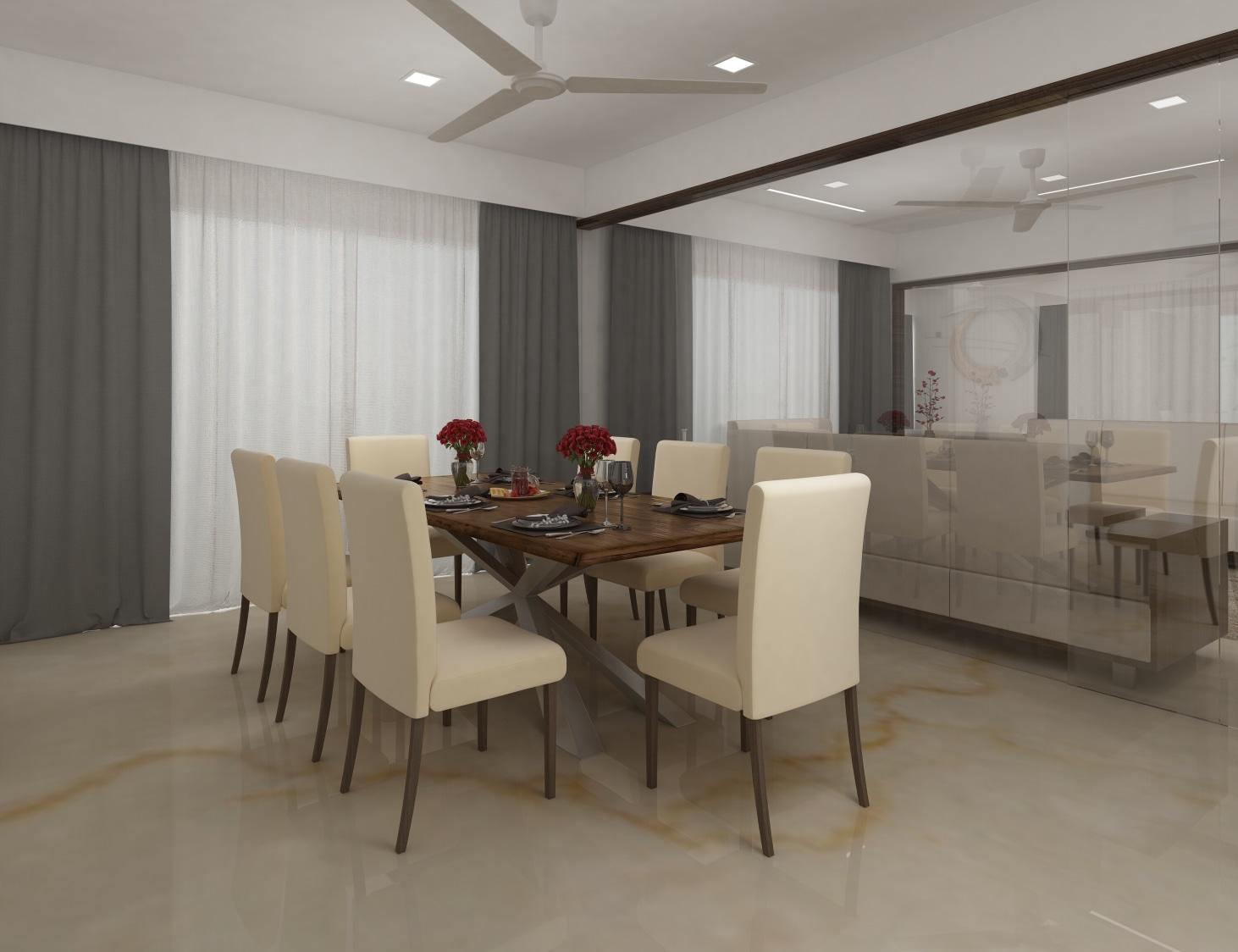 Contemporary living area by setu.patel Dining-room | Interior Design Photos & Ideas