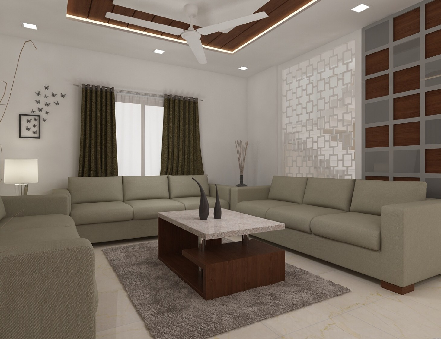 Contemporary living room with rustic shades by setu.patel Living-room | Interior Design Photos & Ideas