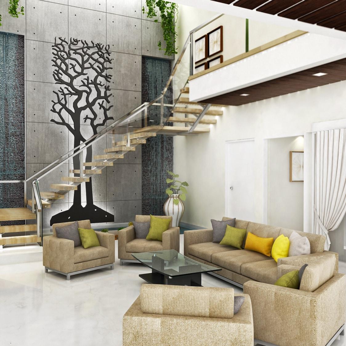 Rustic living room by setu.patel Living-room | Interior Design Photos & Ideas