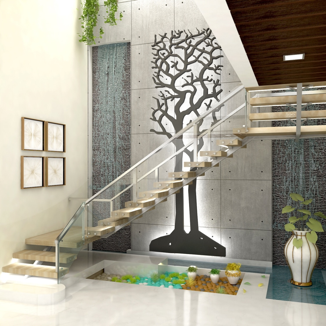 Rustic living room by setu.patel Indoor-spaces | Interior Design Photos & Ideas