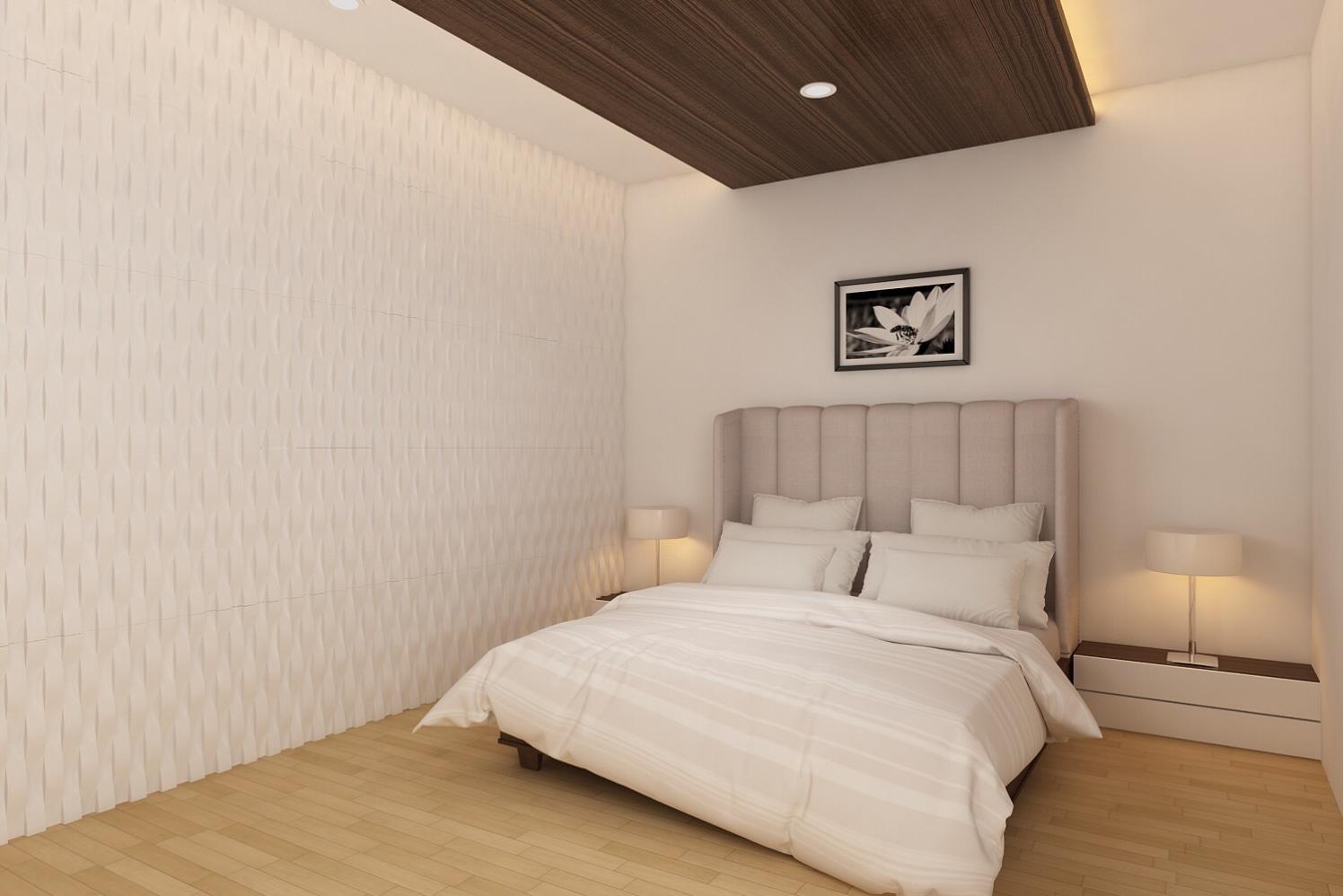 Bedroom Design With Pale Hues by setu.patel Bedroom   Interior Design Photos & Ideas