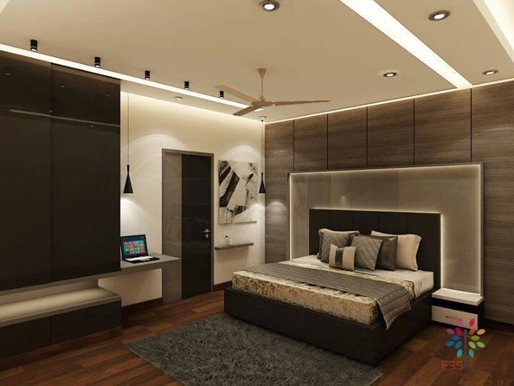 Pale Shade Bedroom With Wooden Furnishing by Vaibhav gaba Contemporary | Interior Design Photos & Ideas