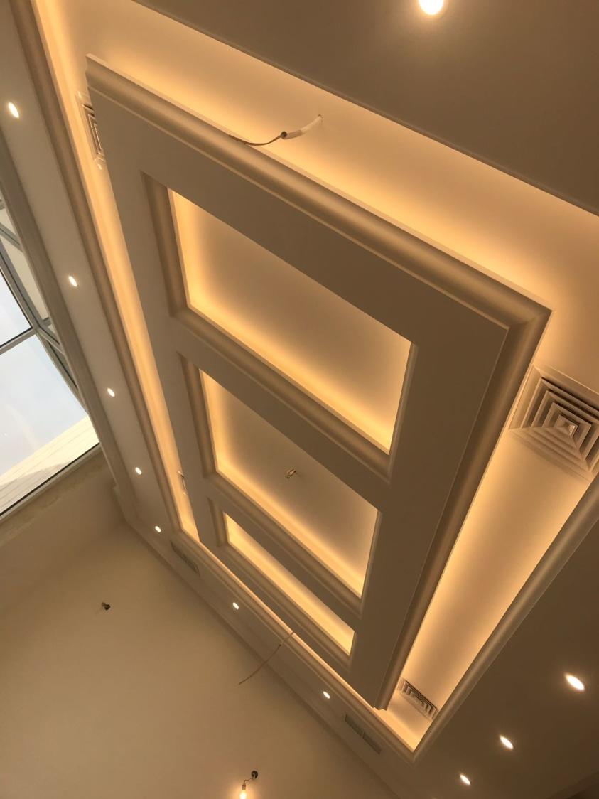 Modern false ceiling by Syed Illias Living-room Modern | Interior Design Photos & Ideas