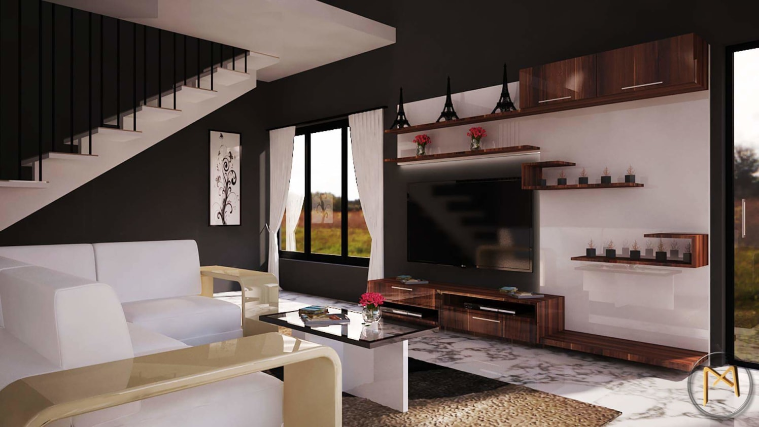 Living room 3D image by Syed Illias Living-room | Interior Design Photos & Ideas
