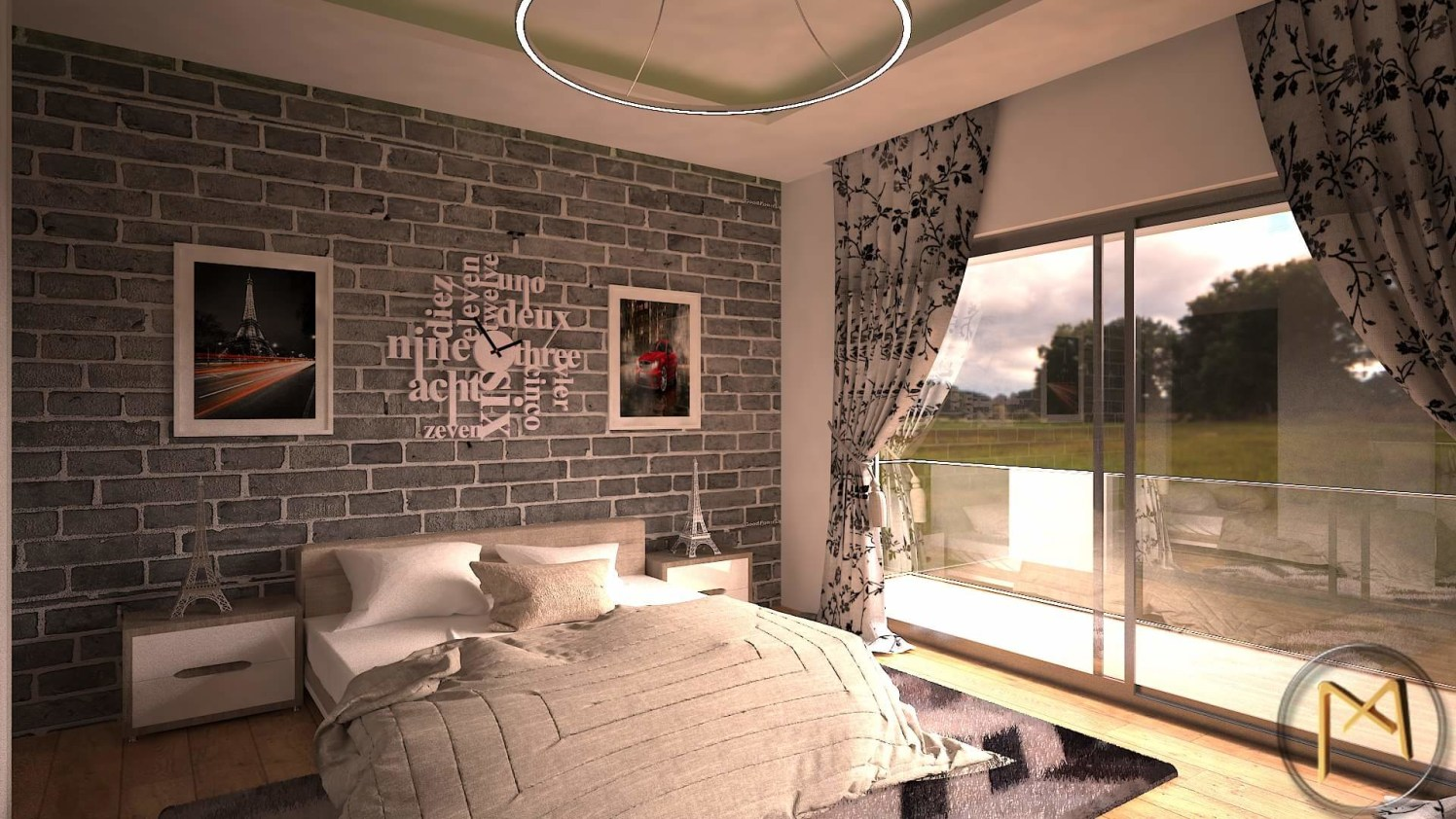 Bed room 3D image by Syed Illias Bedroom Contemporary | Interior Design Photos & Ideas