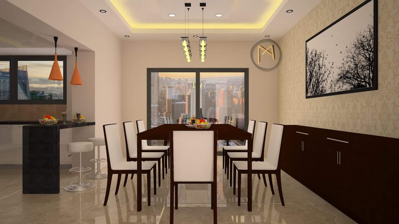 Contemporary dining room design by Syed Illias Dining-room Contemporary | Interior Design Photos & Ideas