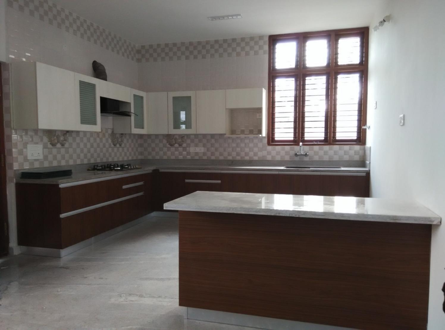 Modular kitchen with pale shades by Syed Illias Modular-kitchen Modern | Interior Design Photos & Ideas