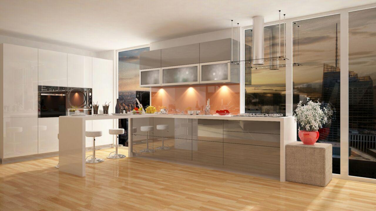 Modular kitchen with pale hues by Syed Illias Modular-kitchen Modern | Interior Design Photos & Ideas