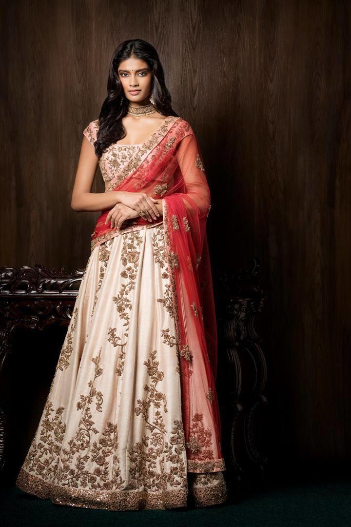 Pastel Shaded Embroidered Bridal Lehenga. by Shyamal & Bhumika Wedding-dresses | Weddings Photos & Ideas