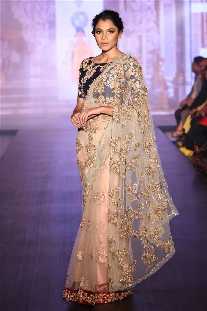 Pastel Shaded Bridal Saree by Shyamal & Bhumika Wedding-dresses | Weddings Photos & Ideas