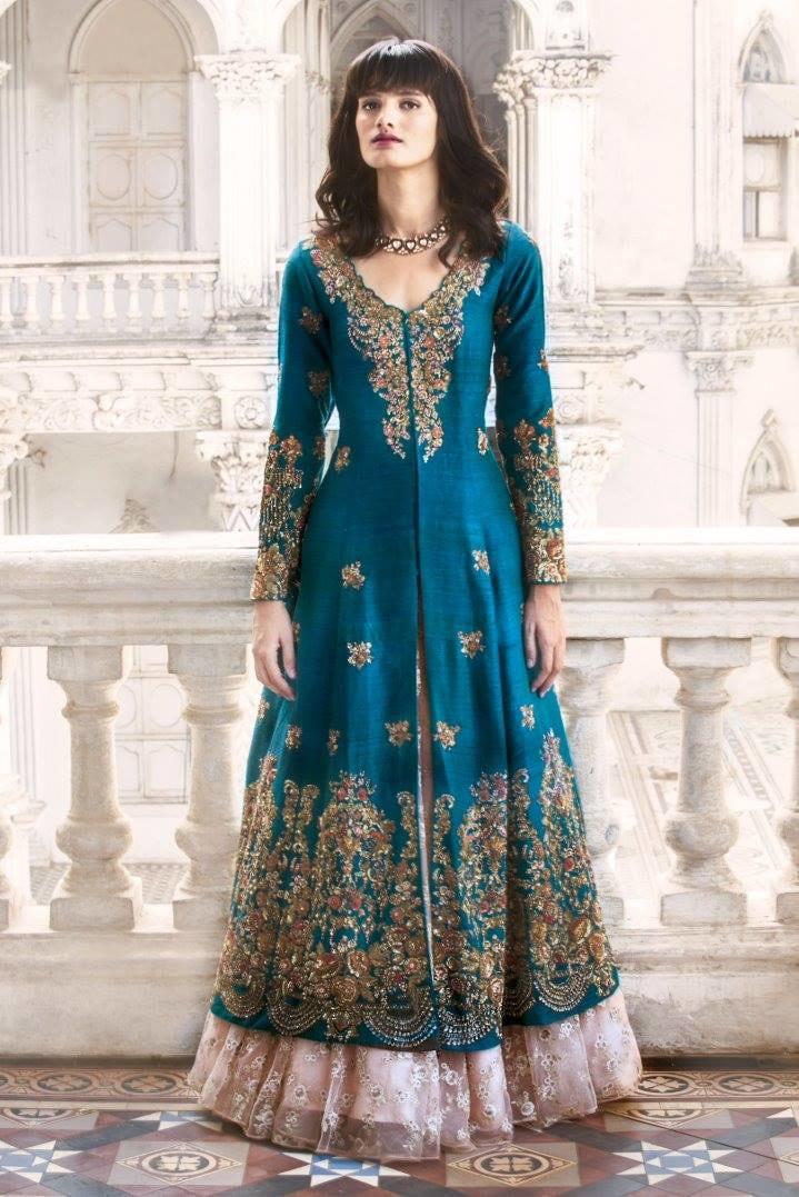Cobalt Embroidered Bridal Gown by Shyamal & Bhumika Wedding-dresses | Weddings Photos & Ideas
