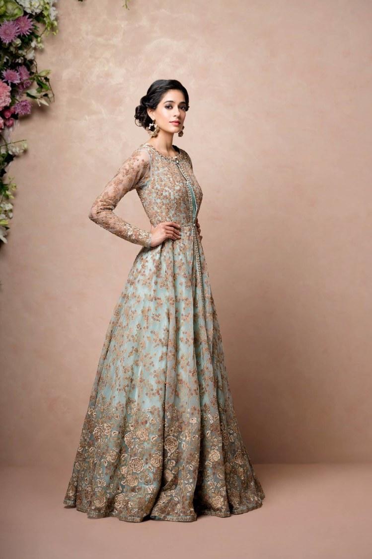 Pastel Shaded Bridal Gown by Shyamal & Bhumika Wedding-dresses | Weddings Photos & Ideas