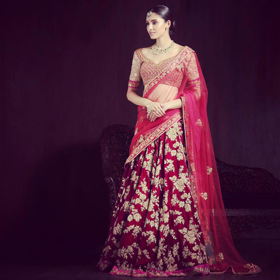 Crimson Red Heavily Embroidered Lehenga by Shyamal & Bhumika Wedding-dresses | Weddings Photos & Ideas