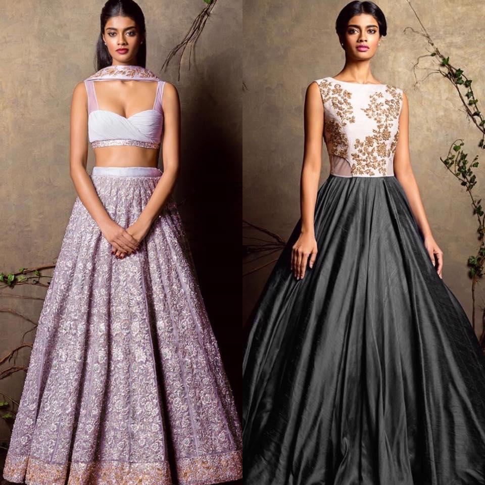 Pastel and Gray Bridal Wear by Shyamal & Bhumika Wedding-dresses | Weddings Photos & Ideas