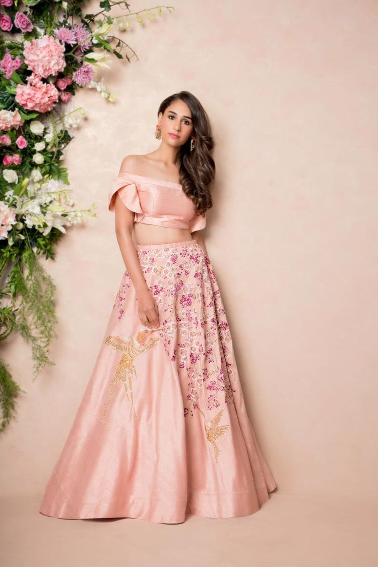 Baby Pink Lehenga With Embroidery by Shyamal & Bhumika Wedding-dresses | Weddings Photos & Ideas