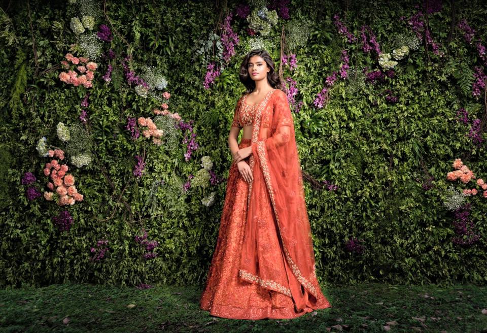 Scarlet Red Bridal Lehenga by Shyamal & Bhumika Wedding-dresses | Weddings Photos & Ideas