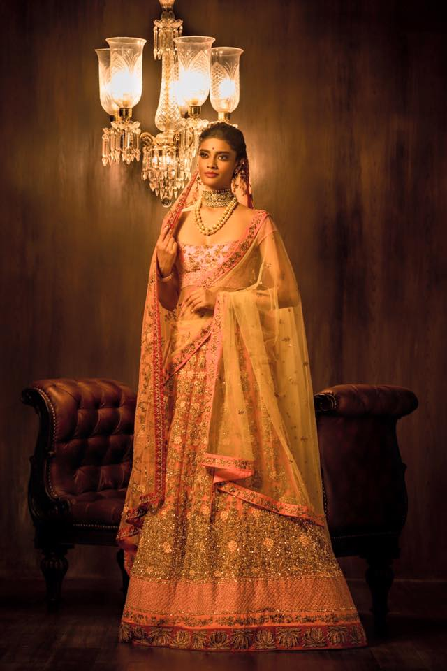 Pink Yellow Shimmering Saree by Shyamal & Bhumika Wedding-dresses | Weddings Photos & Ideas
