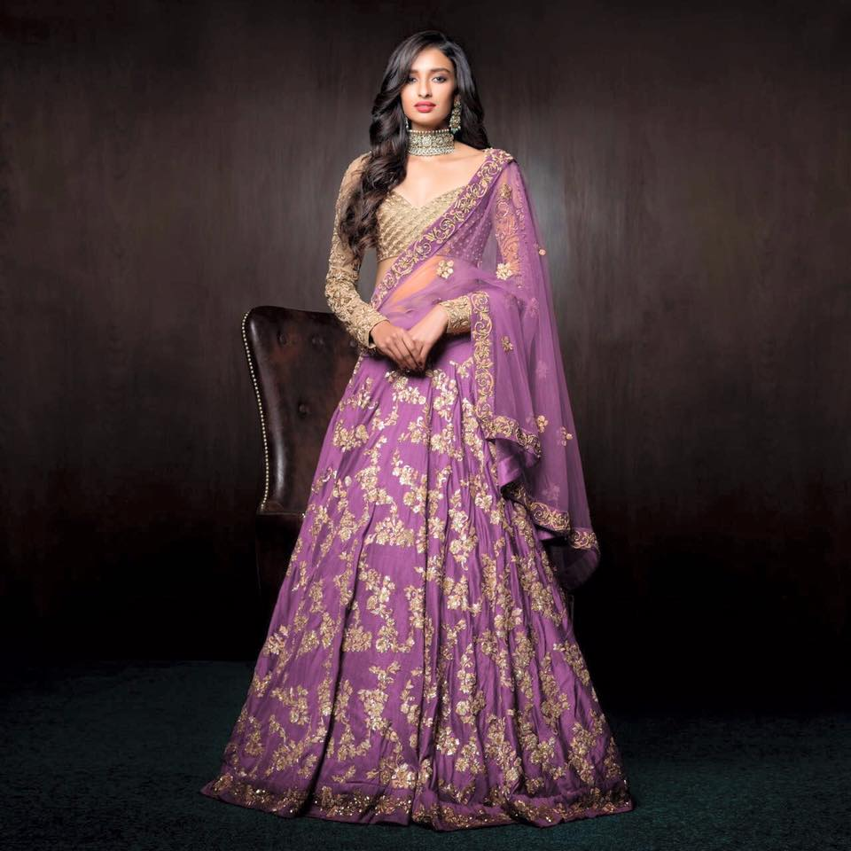 Lavender Shaded Embroidered Bridal Lehenga by Shyamal & Bhumika Wedding-dresses | Weddings Photos & Ideas