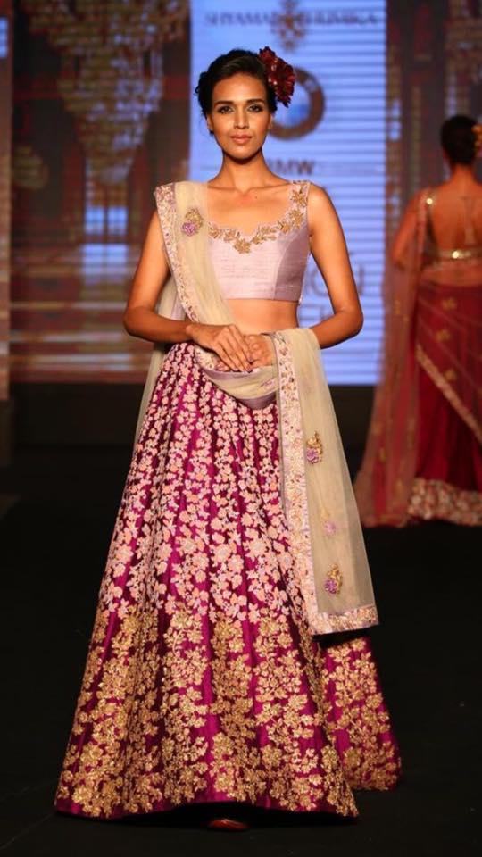 Pink Shaded Bridal Lehenga With Floral Embroidery by Shyamal & Bhumika Wedding-dresses | Weddings Photos & Ideas
