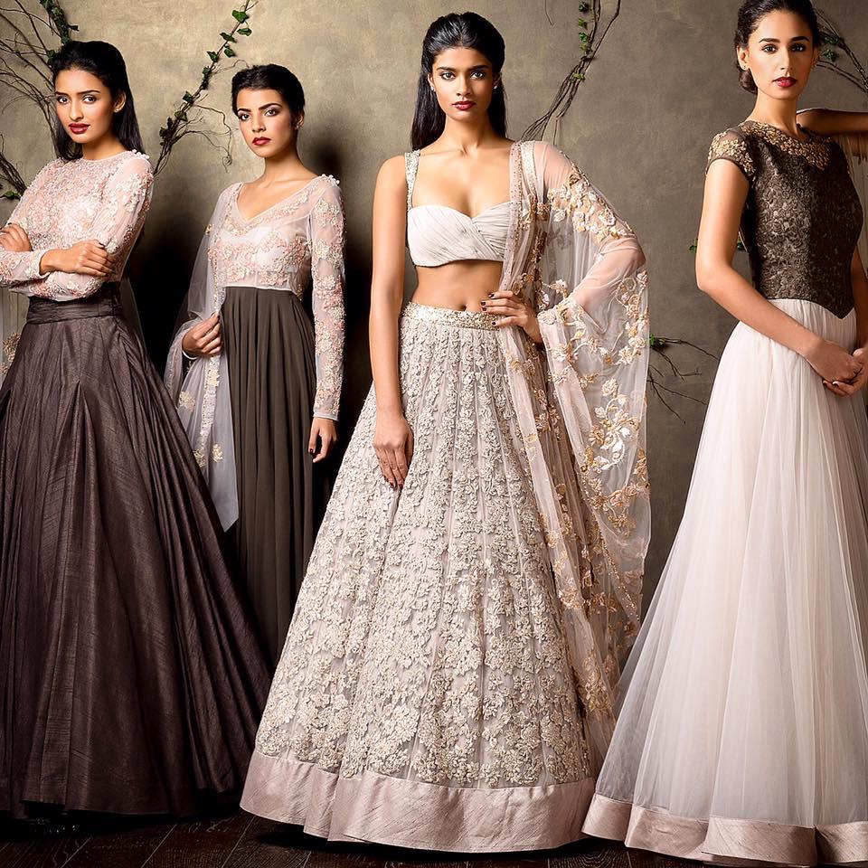 Blush Pink Shaded Bridal Wear by Shyamal & Bhumika Wedding-dresses | Weddings Photos & Ideas