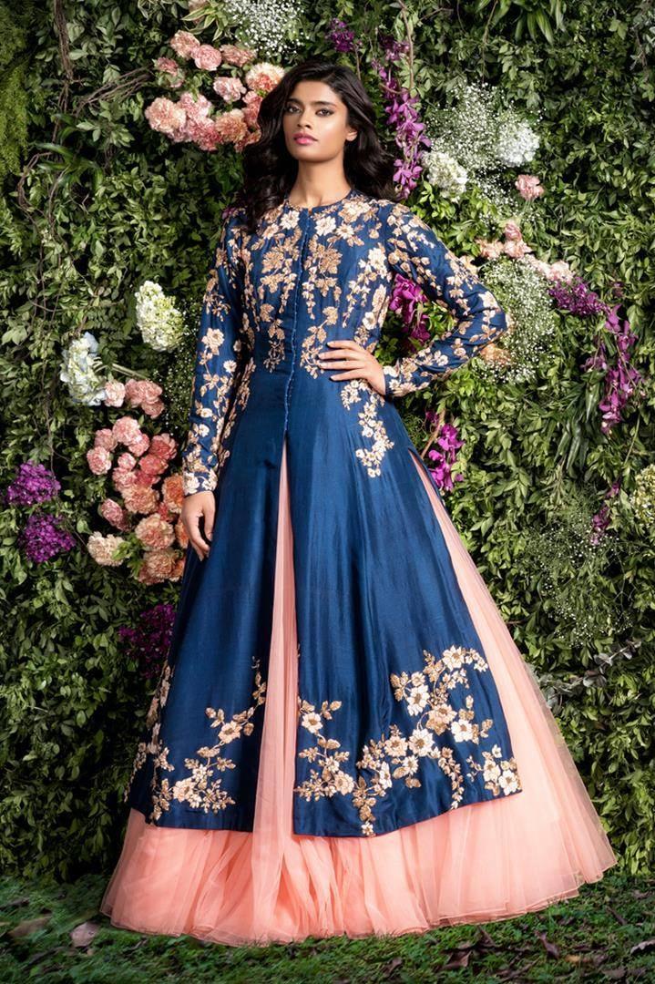 Blue Embroidered Bridal Wear by Shyamal & Bhumika Wedding-dresses | Weddings Photos & Ideas