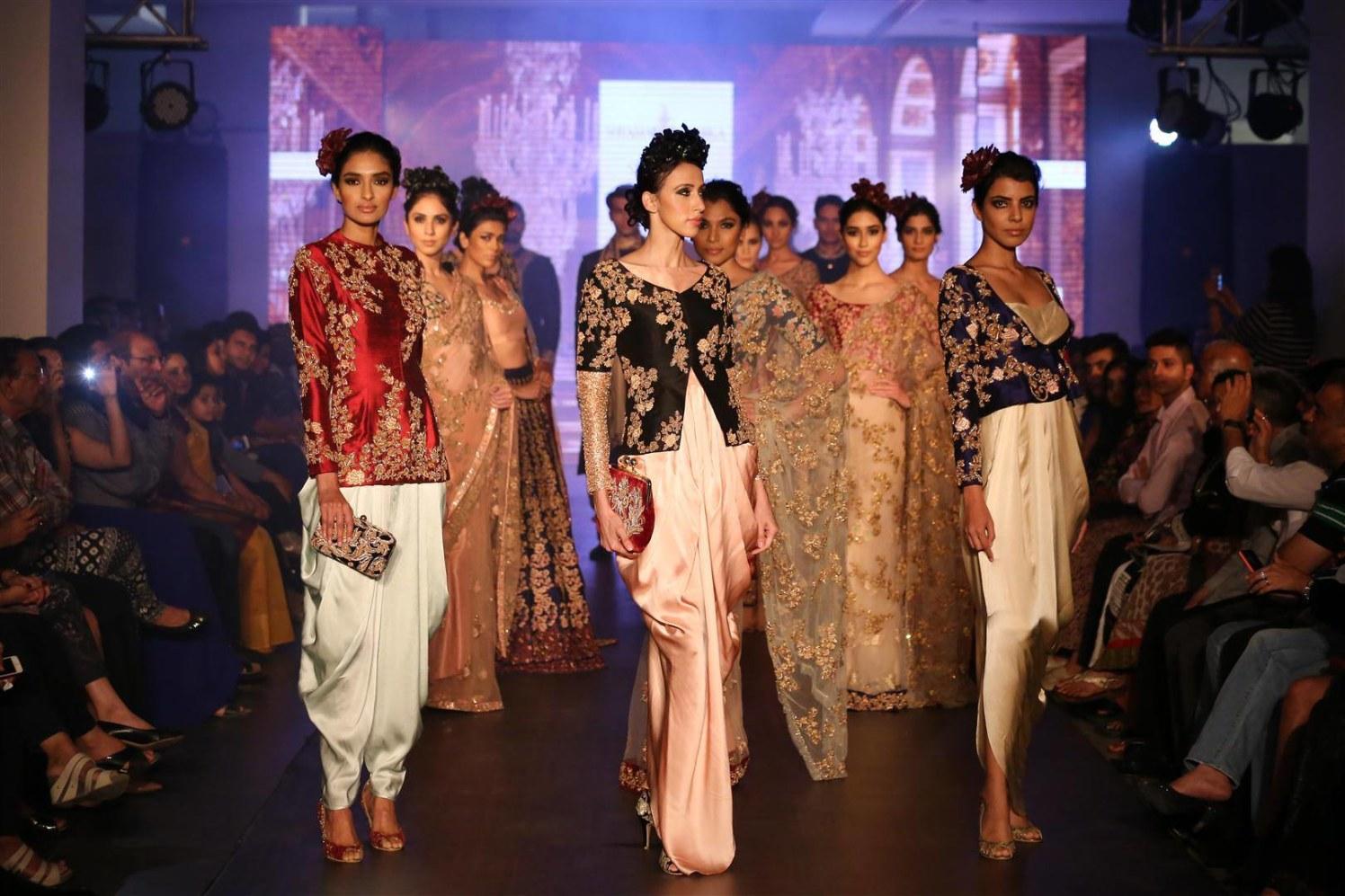 Light Pastel Shaded Indo Western Bridal Wear by Shyamal & Bhumika Wedding-dresses | Weddings Photos & Ideas
