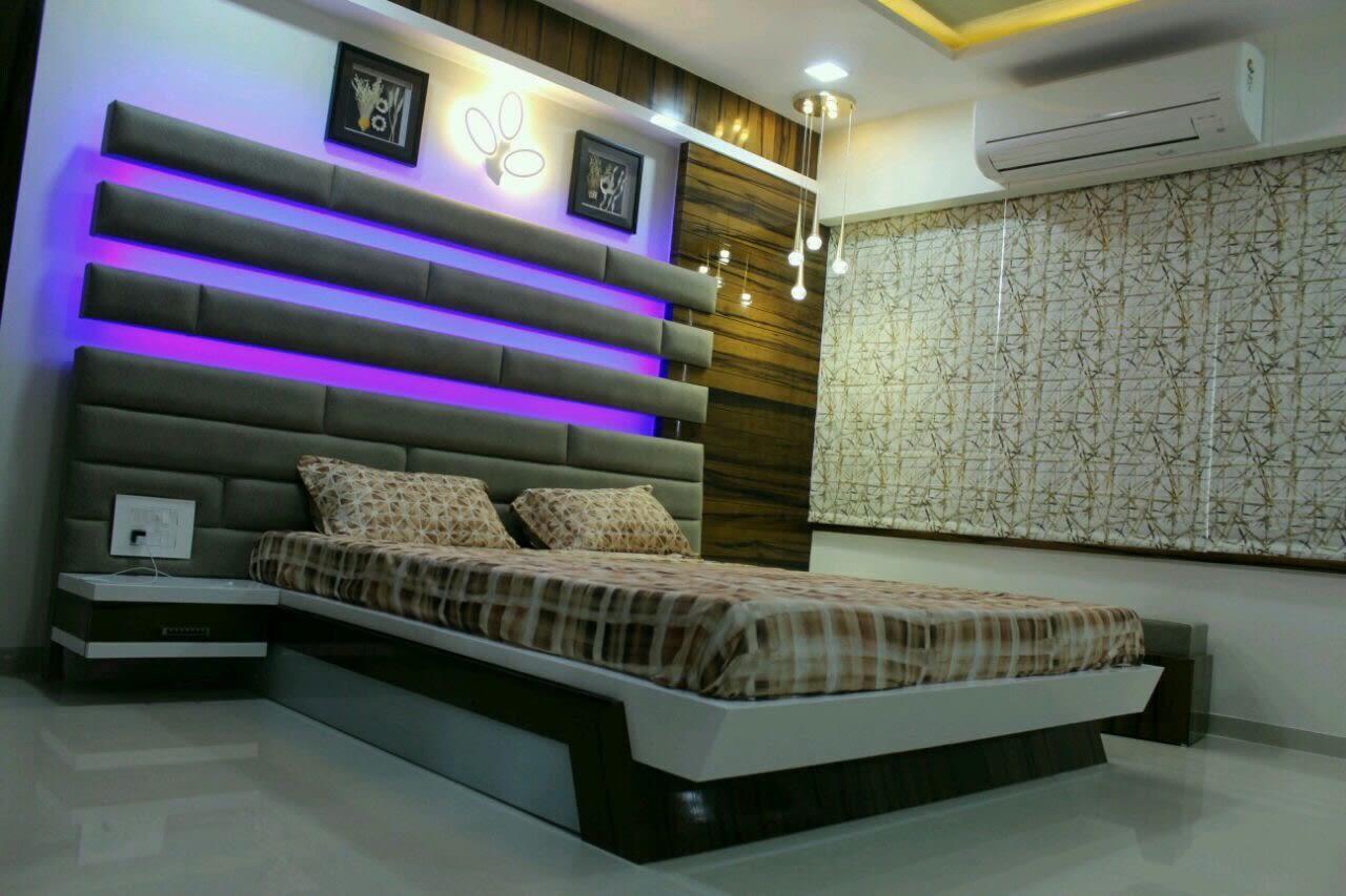 Designer Bed And Marble Flooring In Bedroom by Jaldeep patel Bedroom Contemporary | Interior Design Photos & Ideas