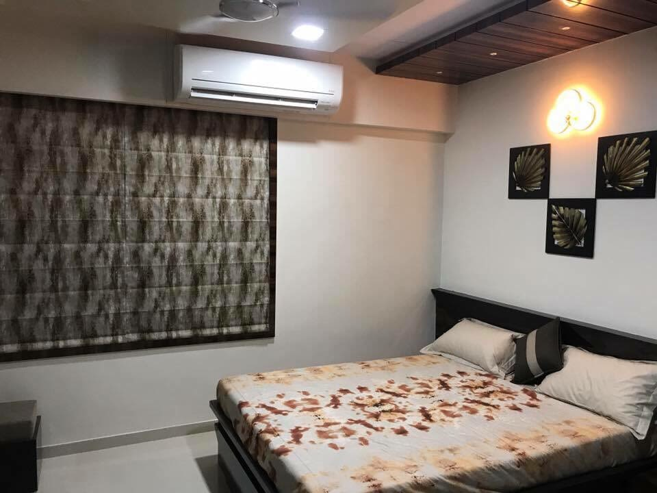 Cotton Shade Interiors In Bedroom by Jaldeep patel Bedroom Contemporary | Interior Design Photos & Ideas