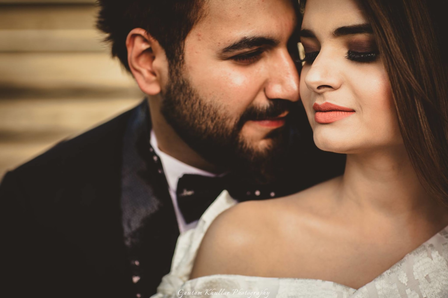 Smokey Eye Makeup With Nude Lips Shade For A Stunning Look For Pre Wedding Shoot by Gautam Khullar Wedding-photography Bridal-makeup | Weddings Photos & Ideas