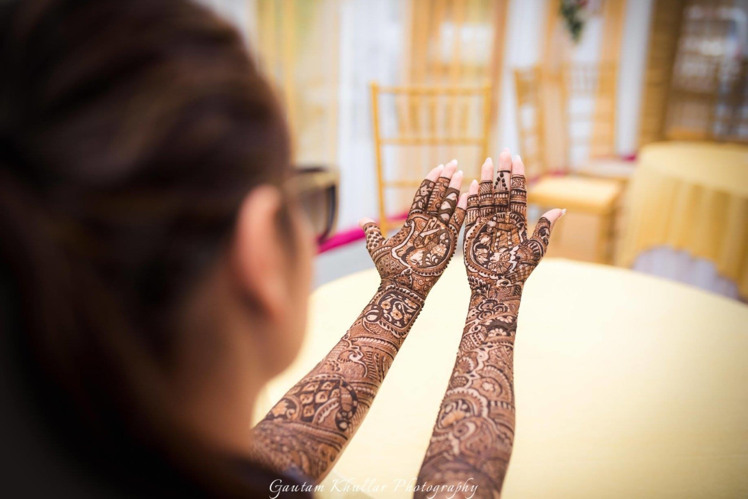 Uniquely Detailed Arabic Mehendi Design by Gautam Khullar Bridal-mehendi | Weddings Photos & Ideas