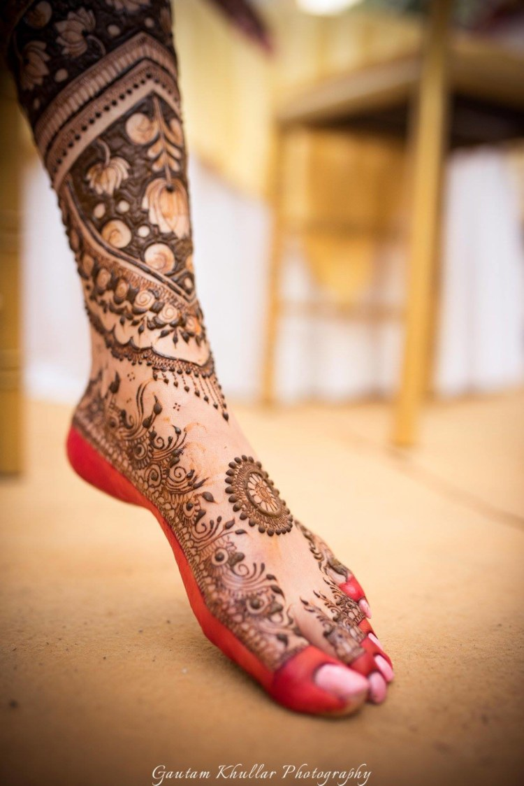 Exotic Moroccan Mehendi Design With Lotus Patterns by Gautam Khullar Bridal-mehendi | Weddings Photos & Ideas