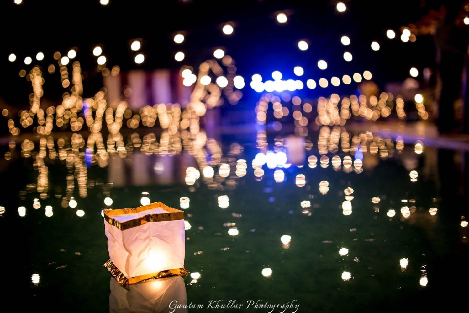 Beautiful Floating Lanterns For Wedding Decor. by Gautam Khullar Wedding-photography Wedding-decor | Weddings Photos & Ideas